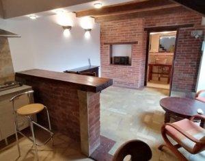 Inchiriere apartament pe 2 niveluri, 60 mp, renovat, design rustic, ultracentral