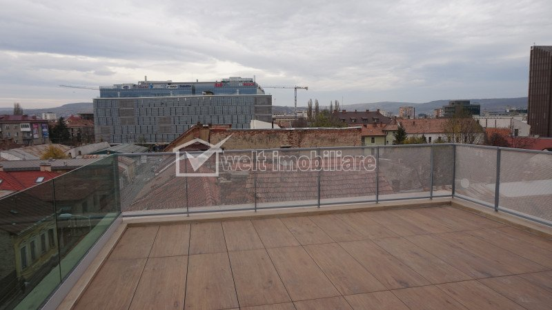 Penthouse, 47mp utili cu terasa de 40mp, ultrafinisat, mobilat, The Office
