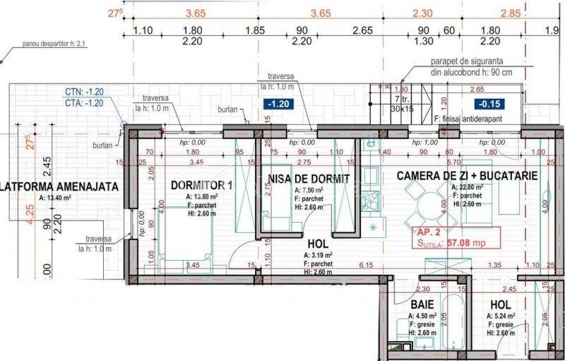 Apartament 3 camere+gradina de 90 mp, zona Dumitru Mocanu