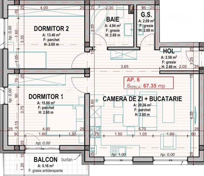 Apartament 3 camere in bloc vila, etaj 1/2, zona Dumitru Mocanu