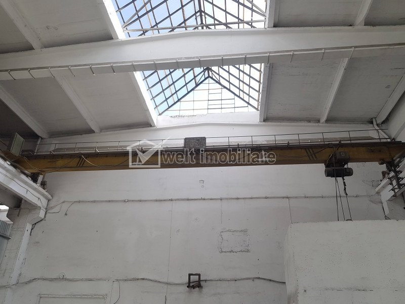 Hala industriala 1200mp, H=10m, acces TIR, Dambul Rotund