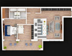 Apartament cu 3 camere, 2 bai, balcon, constructie noua, in cartierul Marasti
