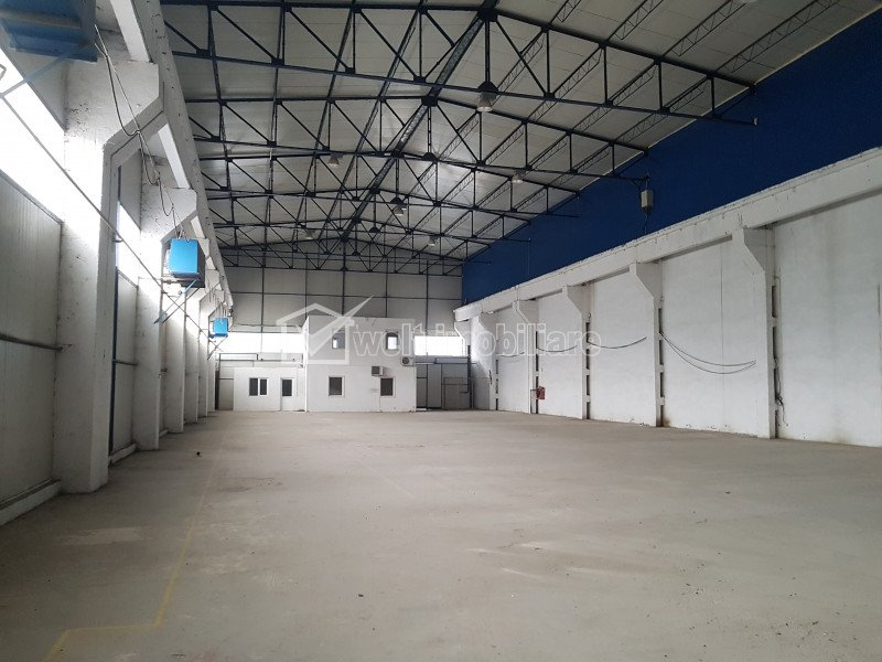 Inchiriere depozit/hala in Someseni, 1300mp pod rulant 12to, acc TIR