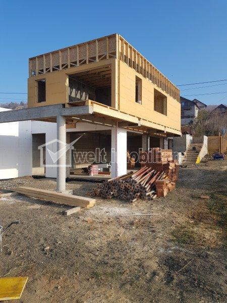 Casa moderna, panorama deosebita spre lac, liniste, Campenesti