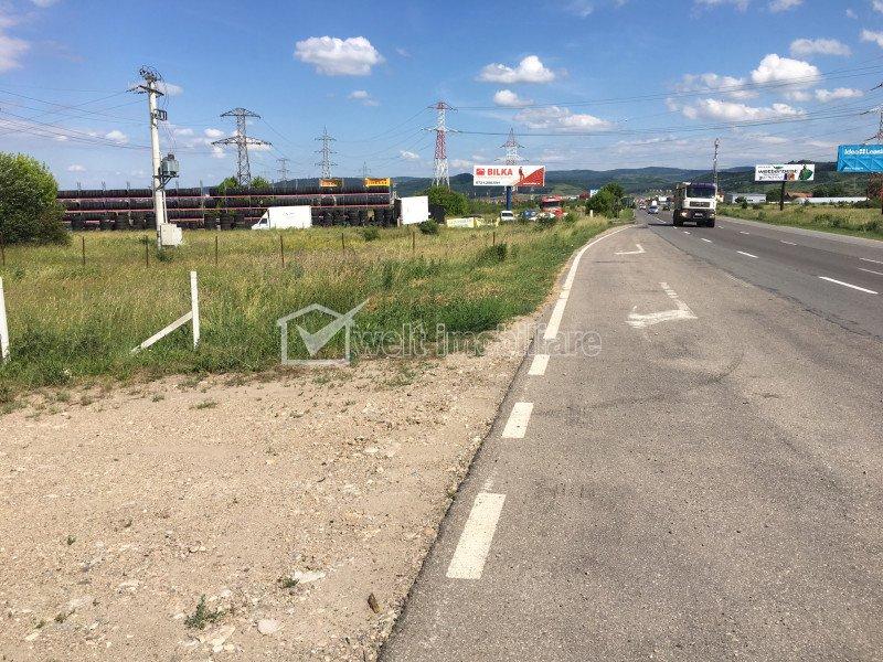 Teren industrial 4200mp cu utilitati, front la DN1, nod autostrada Gilau