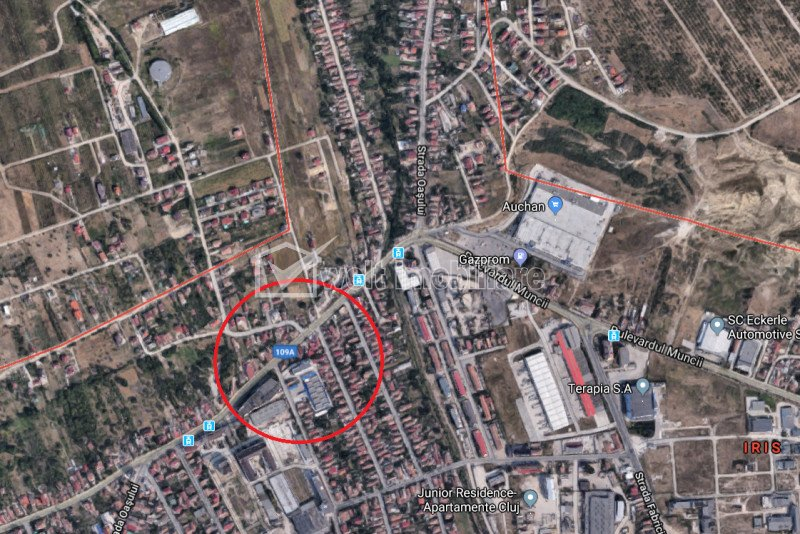 Vanzare teren de bloc, Iris, Auchan, 900 mp, parcela de colt, Incadrare RrM3