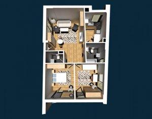Apartament de vanzare, 3 camere, 71 mp, Centru