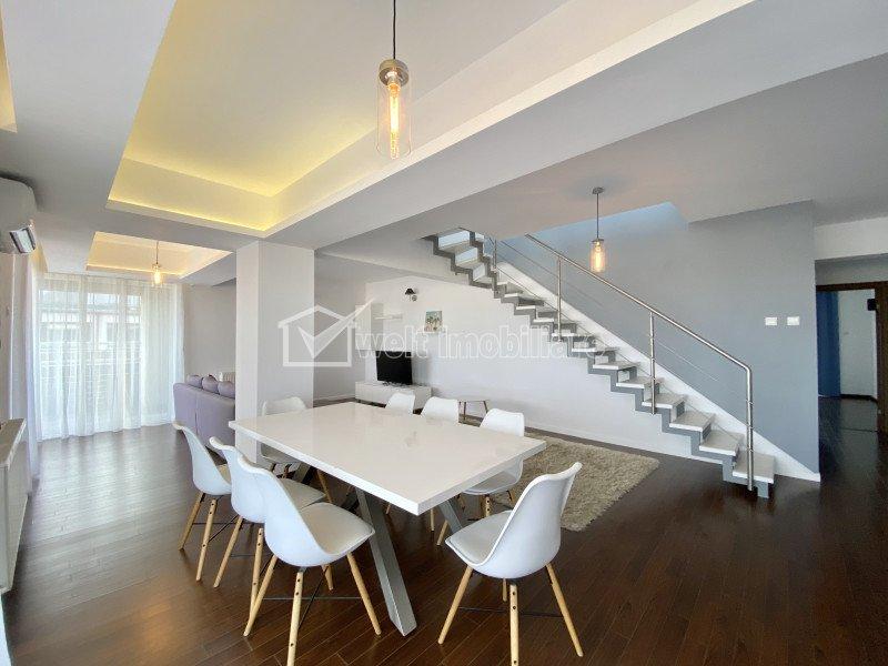 Inchiriere Penthouse 160 mp, parcare subterana, terasa 120 mp, cartier Buna Ziua