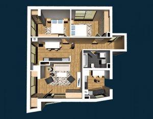 Apartament de vanzare, 3 camere, 73 mp, etaj intermediar, Centru