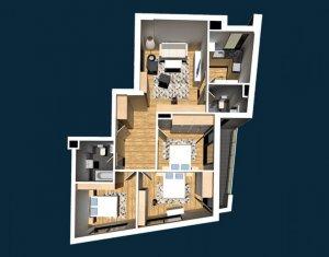 Apartament de vanzare, 4 camere, 89.57 mp, Centru