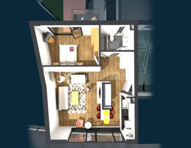 Apartament de vanzare, 2 camere, 56 mp, Centru