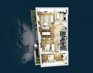 Apartament de vanzare, 3 camere, decomandat, 92 mp, Centru