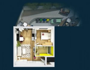 Apartament de vanzare, 2 camere, 47 mp, Centru