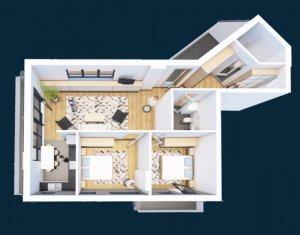 Apartament de vanzare, 2 camere, 64 mp, etaj intermediar, Iris