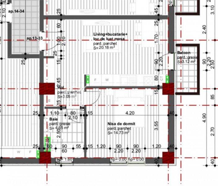 Apartament 2 camere, bloc nou, zona Tetarom1