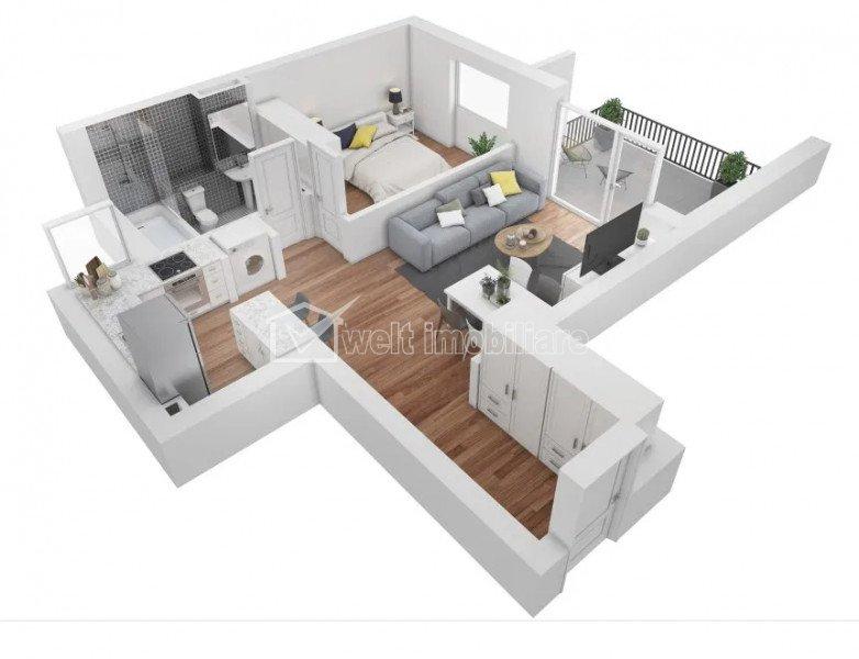 Apartament cu 2 camere, FINISAT, panorama superba, parcare Buna Ziua
