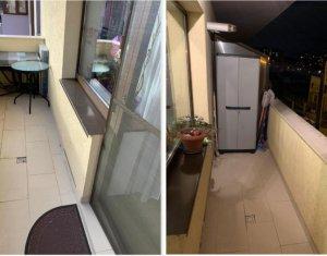 Apartament cu 3 camere, 2 balcoane, parcare, complet mobilat si utilat, Manastur