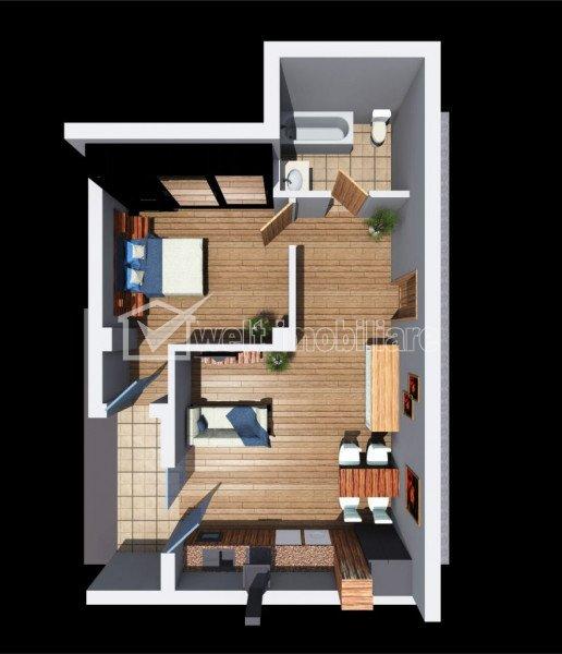 Vanzare apartament 2 camere, in Dambul Rotund, proiect nou, Zona Tetarom