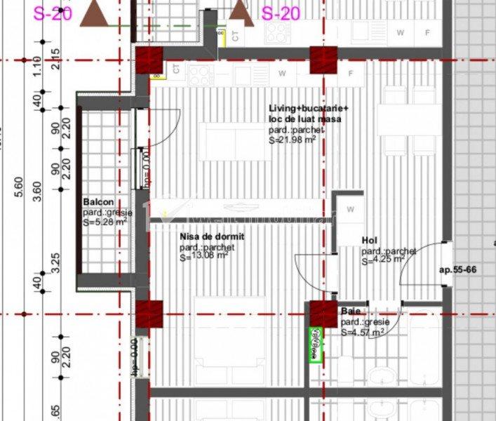 Vanzare apartament 2 camere, Dambu Rotund, proiect nou, Zona Tetarom