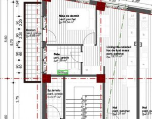 Vanzare apartament 2 camere, Dambul Rotund, proiect nou, Zona Tetarom