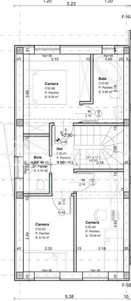 Duplex semifinisat, 89 mp utili, Iris, pozitie excelenta, acces facil