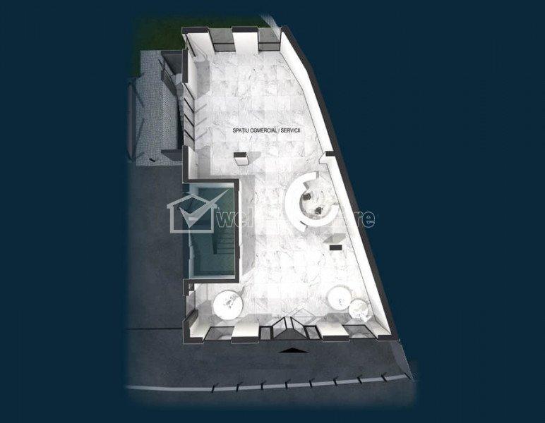 Vanzare spatiu comercial 131mp, zona liceu Avram Iancu, in proiect