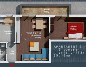 BACIU - Apartament 2 camere, 55 mp, CF la zi, ideal credit prima casa