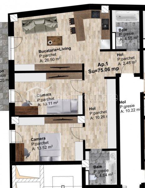 Vanzare apartament 3 camere, zona IRA, Someseni