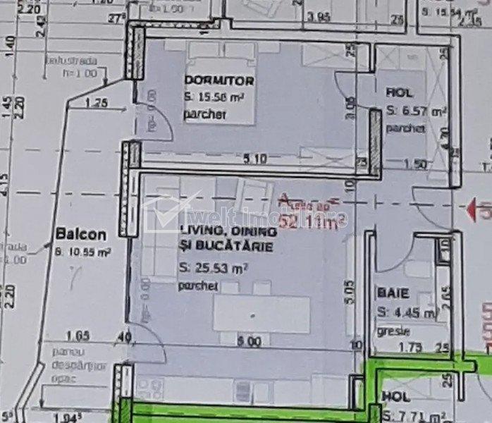 Vanzare apartament 2 camere, Sopor, semifinisat, etaj 2