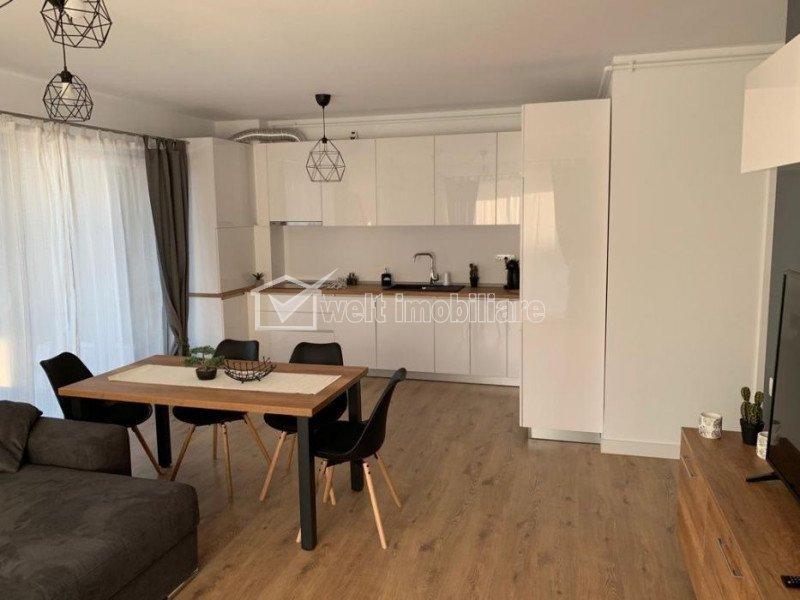 Inchiriere apartament 2 camere, terasa, parcarfe, 60 mp, prima chirie, zona Iris