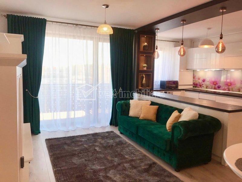 Inchiriere apartament de lux, 2 camere, parcare, 59 mp, prima chirie, Marasti