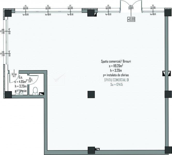 Vanzare spatiu comercial 124mp ansambul nou in Centru zona Bosch, NTT