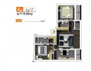 OFERTA de TOP! Apartament de 3 camere, 80 mp, imobil nou in zona Marasti