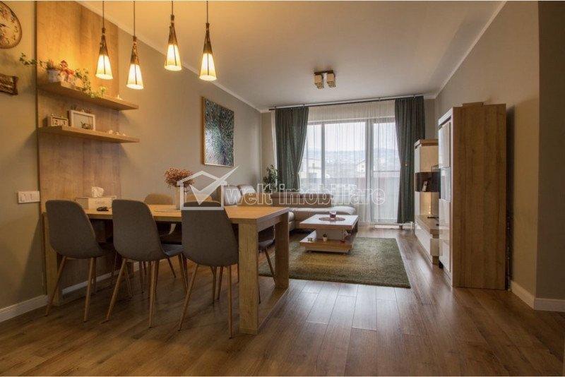 Apartament LUX, 2 camere, etaj 1, balcon, cu CF, in Borhanci