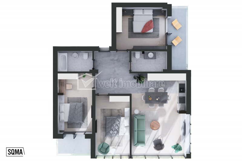 Lakás 4 szobák eladó on Cluj-napoca, Zóna Centru
