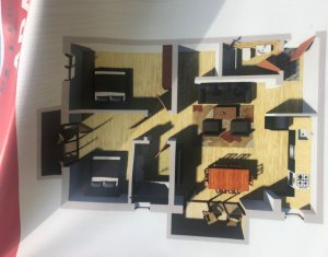 Apartament 3 camere, 2 baii,orientare SUD, zona centrala