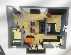 Apartament 2 camere, 54.48 mp, etaj 1/2, zona centrala