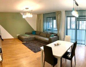 Apartament lux, 2 camere ultrafinisat, etaj 1, garaj, zona Terra