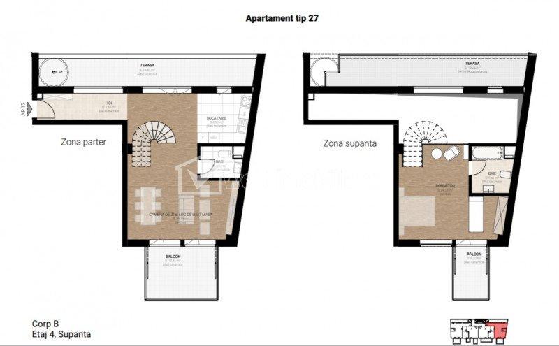 Penthouse cu 3 camere, zona Garii, imobil nou si modern, preturi promotionale