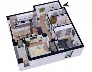 Apartament 3 camere, 70.26 mp utili, imobil nou, zona VIVO