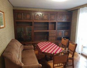 Inchiriere apartament 3 camere decomandat, mobilat si utilat, parcare, Manastur