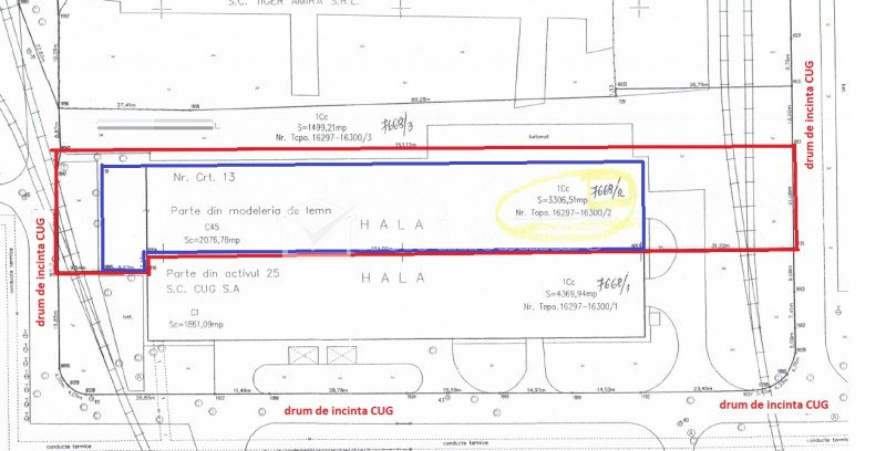 Vanzare hala 2076mp H=8m, teren 3242mp Bdul Muncii CUG