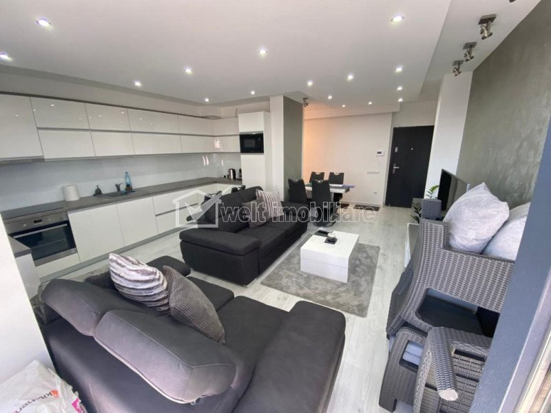 Apartament 2 camere ultrafinisat, Grand Park, terasa generoasa
