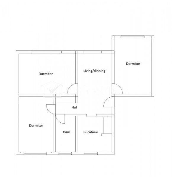 4 camere decomandate, 78 mp, Manastur