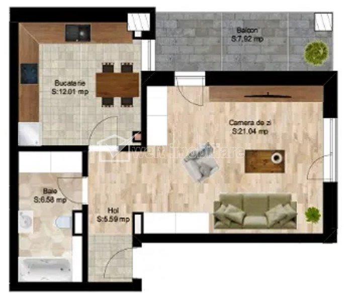 Apartament in zona centrala, imobil nou, merita vazut!