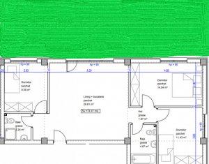 Apartament 4 camere, gradina 54mp, zona str Stadionului, Floresti