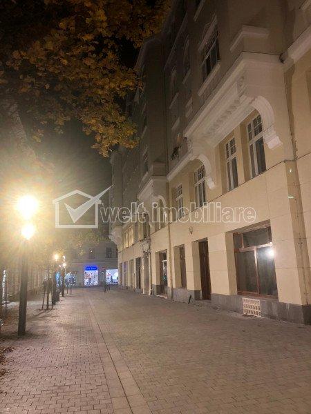 Spatiu comercial 181mp, zona pietonala piata Muzeului Centru