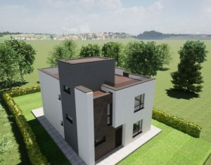 Casa individuala, terasa circulabila