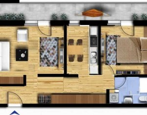 Apartament semifinisat 2 camere, in zona strazii Eugen Ionesco, merita vazut!