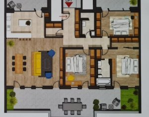 Penthouse Superb, 4 camere, 2 bai, 2 balcoane, 1 terasa, 2 garaje, CF, Buna Ziua